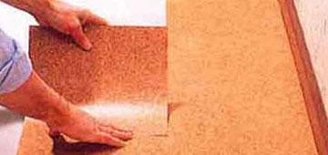 Клеевая напольная пробка