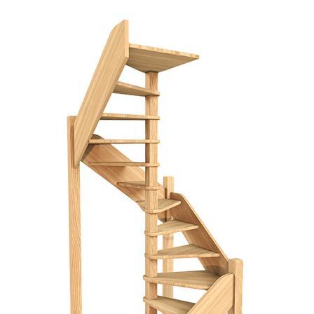 Деревянная универсальная винтовая лестница ЛЕС-1,2ВУ (поворот 360°)
