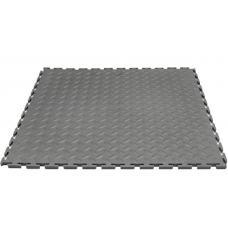 Модульная плитка ПВХ 500х500х7 мм серый RAL 7037