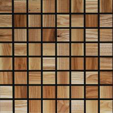 Мозаика из дерева 3D Ясень натуральный
