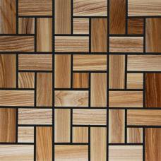 Мозаика из дерева 3D Ясень Термо