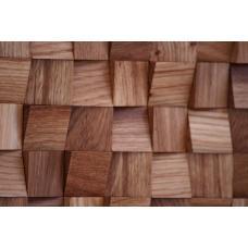 Деревянная 3Д мозаика Волна Дуб
