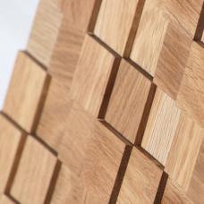 Деревянная 3Д мозаика Пирамида Дуб