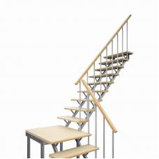 Комбинированная универсальная лестница ЛЕС-05 (поворот 90°)