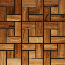 Мозаика из дерева Плоская Дуб термо