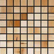 Мозаика из дерева Плоская Клен натуральный