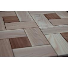 Деревянная 3Д мозаика Паркет Микс
