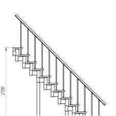 Модульная лестница (прямой марш)