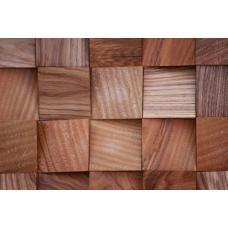Деревянная 3Д мозаика Волна Ясень