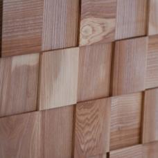 Деревянная 3Д мозаика Шашки Ясень