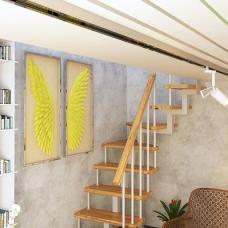 Модульная малогабаритная лестница Компакт ( поворот на 90)